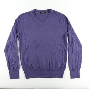 Banana Republic V Neck Purple Heather Mens Sweater